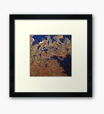 Royal Blue Copper Framed Print