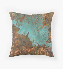 Marine Rust Copper Throw Pillow