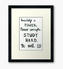 Procrastination motivation Framed Print