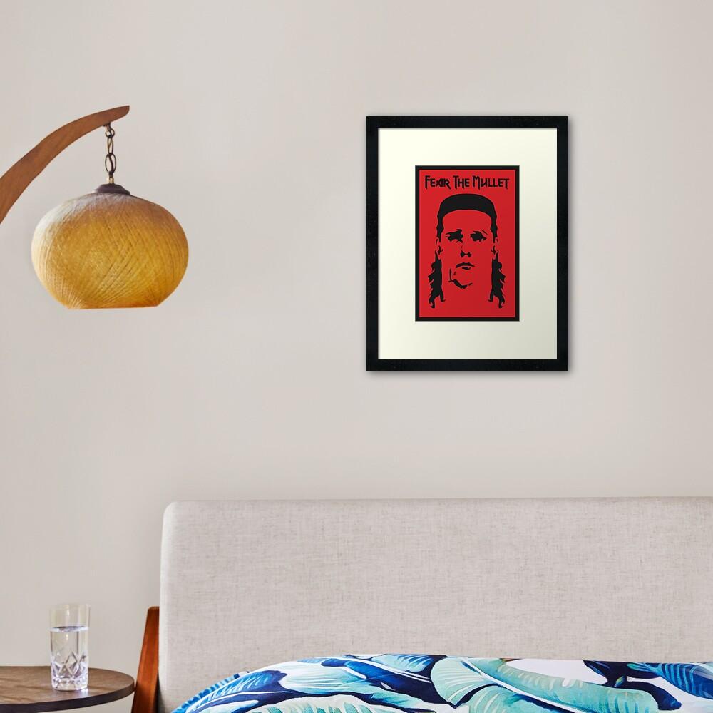 Fear the Mullet Framed Art Print