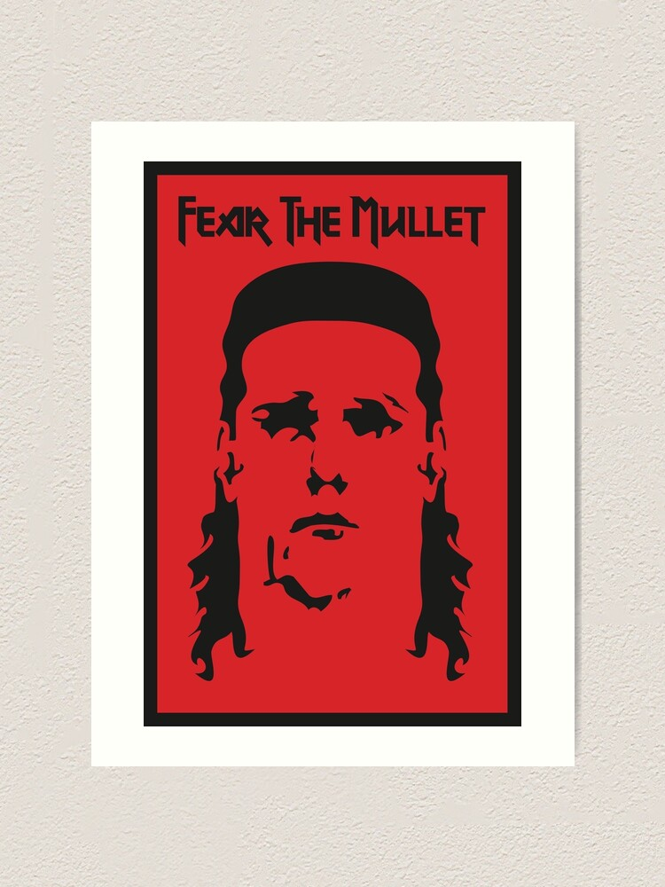 Alternate view of Fear the Mullet Art Print