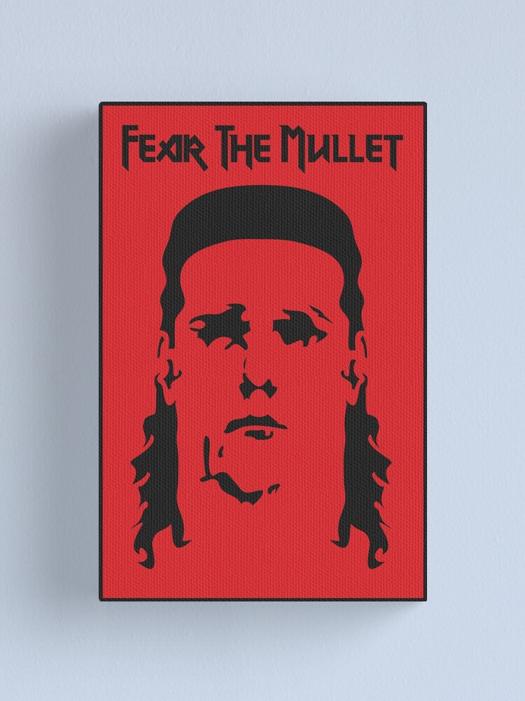 Alternate view of Fear the Mullet Canvas Print