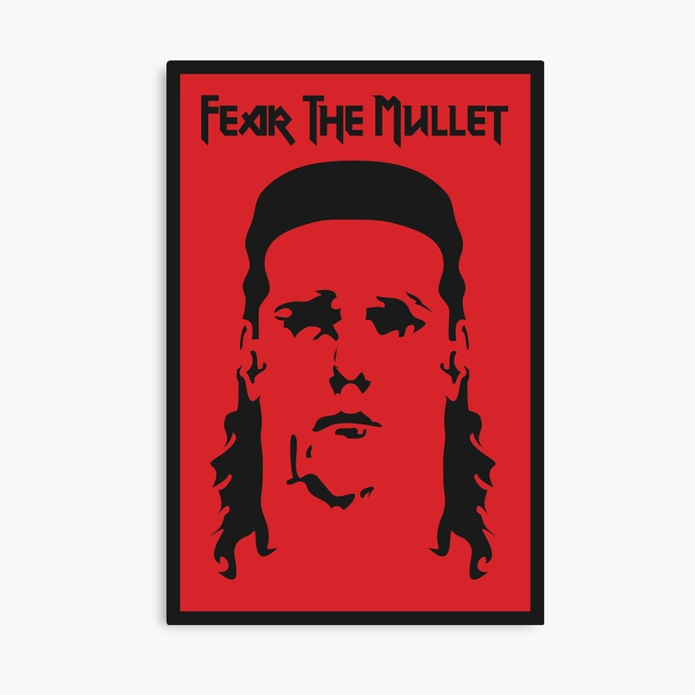 Fear the Mullet Canvas Print