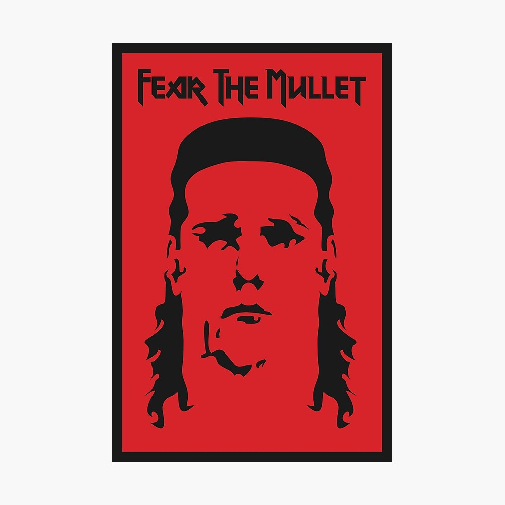 Fear the Mullet Photographic Print
