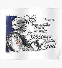 You Bear not the Sword in Vain - U.S. Soldiers Poster