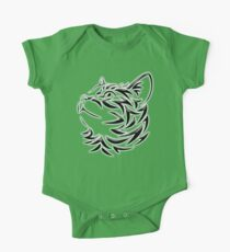 Cat, Tribal Cat, Cat looking Up, Feline, Puss, Pussy Kids Clothes