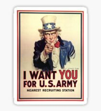 I want you for the U.S. Army Sticker