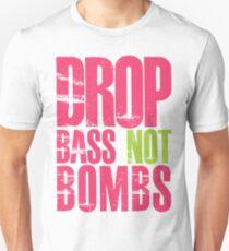 Drop Bass Not Bombs (magenta/neon)  Unisex T-Shirt