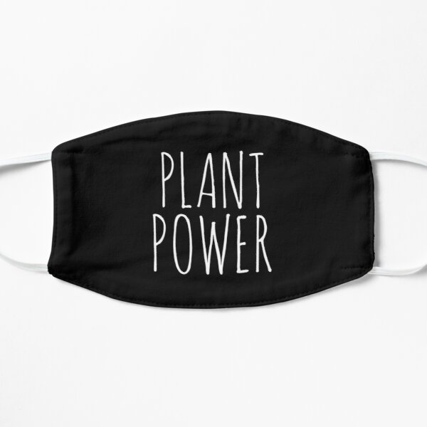 Plant Powered Vegan Life Based Protein Flat Mask