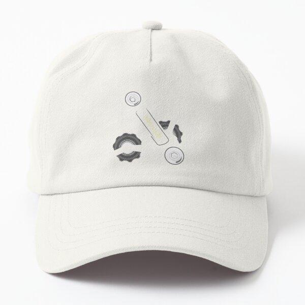 Italian Derailleur Gears White Dad Hat