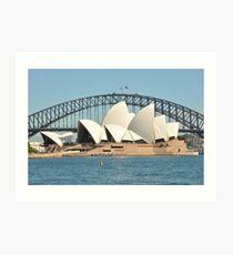 Sydney Opera house and bridge Art Print