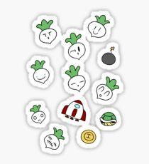 SMB2 Turnips and Items Sticker