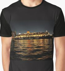 Queen Mary 2 Ocean liner at night in Sydney Australia Graphic T-Shirt