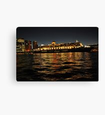 Queen Mary 2 Ocean liner at night in Sydney Australia Canvas Print