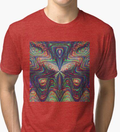 Warrior #DeepDream frequency Tri-blend T-Shirt