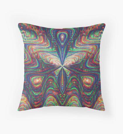 Warrior #DeepDream frequency Throw Pillow