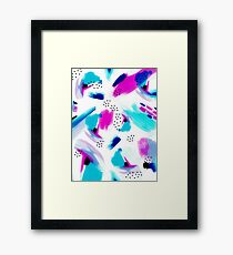 Purple Splash Framed Print