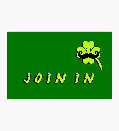 St Patrick: Irish Mustache VRS2 Photographic Print