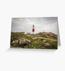 Portland Bill Lighthouse in Dorset, England UK Greeting Card