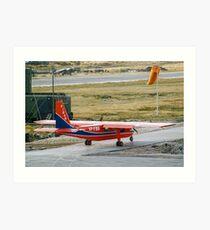 FIGAS BN-2B Islander VP-FBG at Stanley Art Print