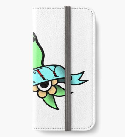 Party Parrot Vintage Tattoo iPhone Wallet