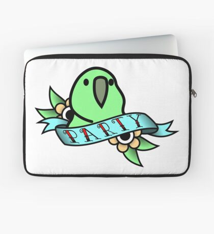 Party Parrot Vintage Tattoo Laptop Sleeve