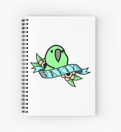 Party Parrot Vintage Tattoo Spiral Notebook