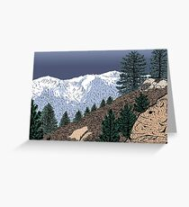 Winter Hike Up Twin Peaks Greeting Card