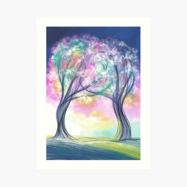 Two Trees Entwined Art Print