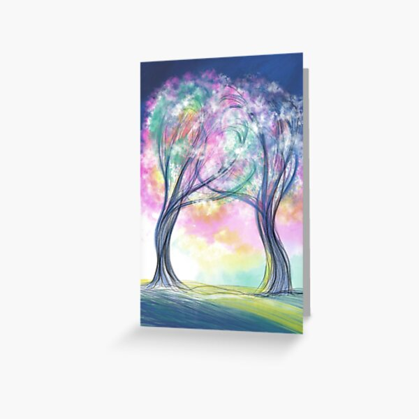 Two Trees Entwined Greeting Card