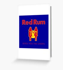 REDRUM gives you the creeps! (red) Greeting Card