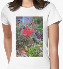 Fallen Acer Leaf - Grasmere. Women's Fitted T-Shirt