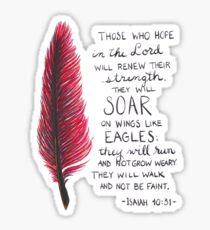 Isaiah 40 Wings Of Eagles Sticker