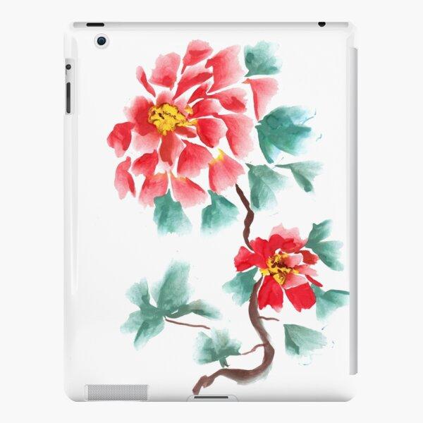 Peonies, painted in gouache.  iPad Snap Case
