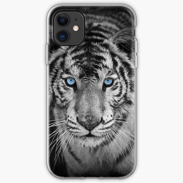 Blue Eyed Bengal Tiger iPhone Soft Case