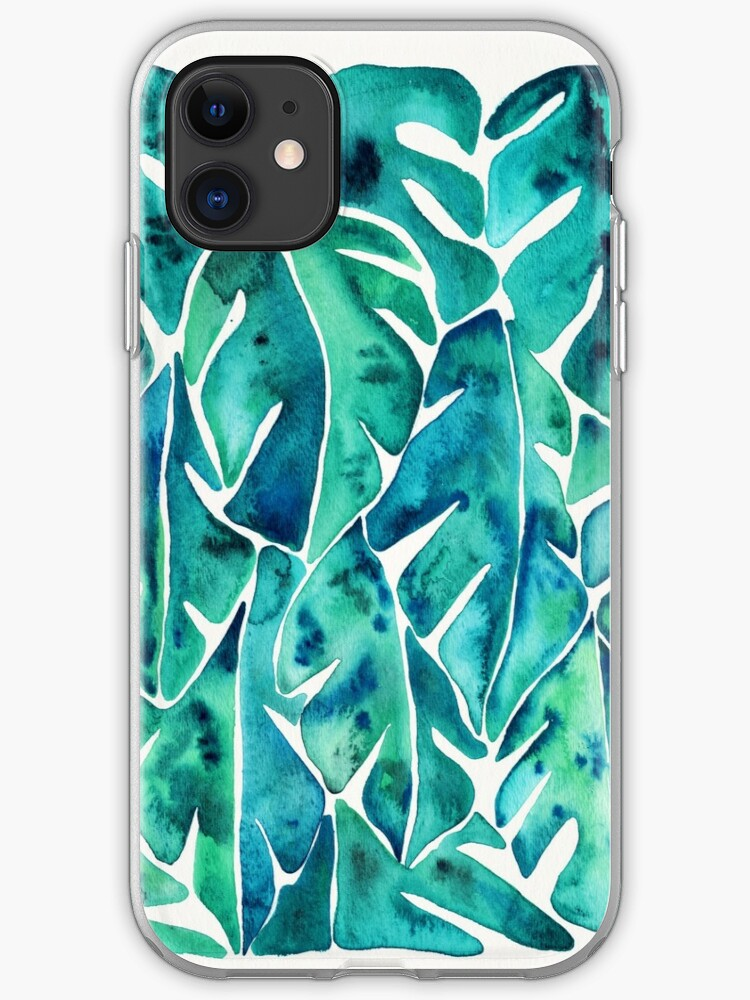 Purple Philodendron iphone case