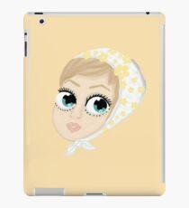 Twiggy with flower headband iPad Case/Skin