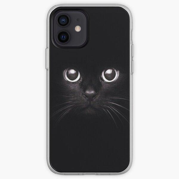 Gato negro Funda blanda para iPhone