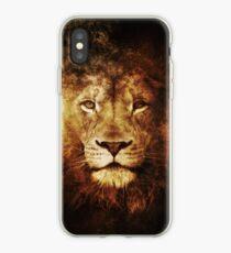 Grunge Lion iPhone Case