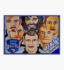 Blues Champions Origin 2014  Photographic Print
