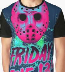 FRIDAY THE 13TH Neon V Graphic T-Shirt