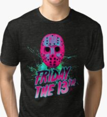 FRIDAY THE 13TH Neon V Tri-blend T-Shirt