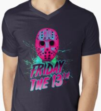 FRIDAY THE 13TH Neon V Men's V-Neck T-Shirt