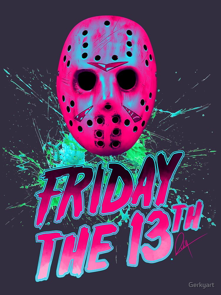FRIDAY THE 13TH Neon V by Gerkyart