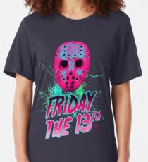 FRIDAY THE 13TH Neon V Slim Fit T-Shirt