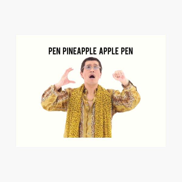 Pen Pineapple Apple Pen Art Print