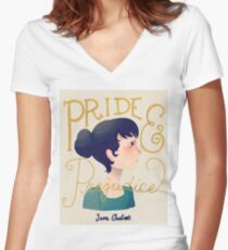 Pride and Prejudice Women's Fitted V-Neck T-Shirt