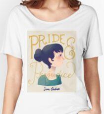 Camiseta ancha para mujer Orgullo y prejuicio