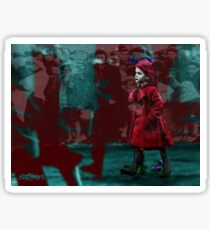 Girl in the Blood-Stained Coat Sticker