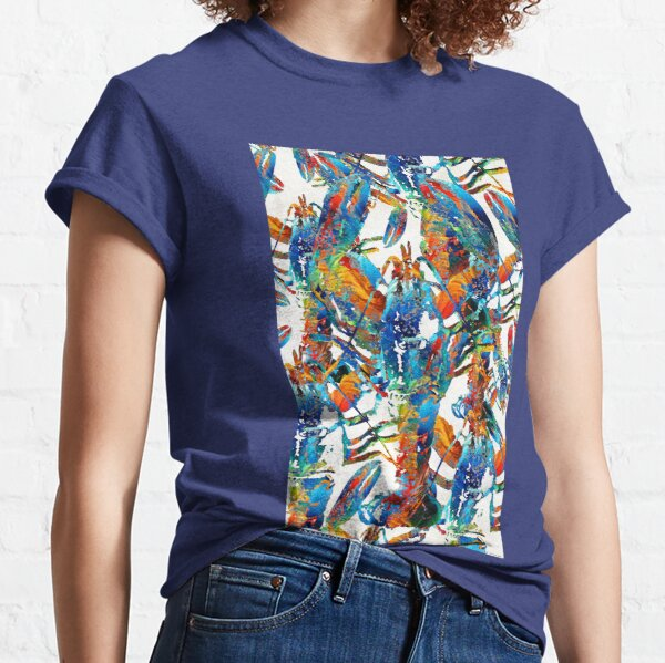 Colorful Lobster Collage Art - Sharon Cummings Classic T-Shirt